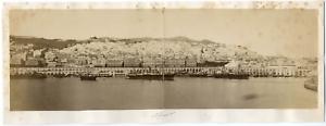 Algerie-Alger-vue-panoramique-sur-le-port-et-la-ville-Vintage-albumen-print