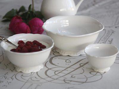 Chic Antique Provence Creme Shabby 3 teiliges Schüsselset Porzellan Landhaus