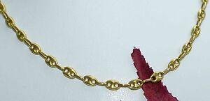 Goldkette herren 750  BOHNENKETTE HERRENKETTE HALSKETTE 750 GOLD 18 KT 55 cm GOLDKETTE ...