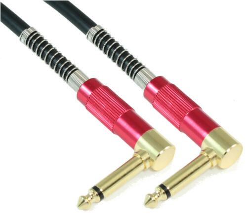 Guitar Cable  Male to Male  18AWG 1.5ft Premium 1//4inch ANGLED MONO TS