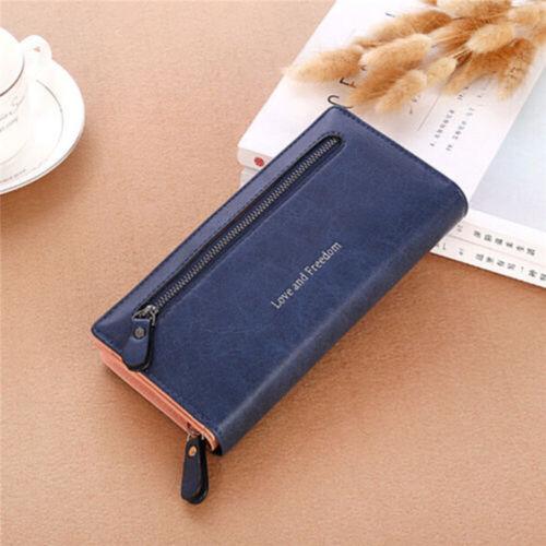 Fashion Women Bifold Wallet Leather Clutch Card Holder Purse Lady Long Handbag