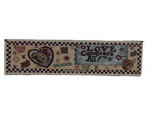 Boyds Beard and Friends Loomed Tapestry 35x9 Love Conquers All
