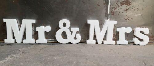 """L/'inscription /""""Mr /& Mme/"""" 6 lettres 30 cm polystyrène demande Fiançailles Mariage Deco"""