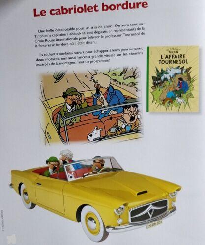 Voiture Tintin 1//24 Le Cabriolet Bordure L/'affaire Tournesol  Neuf fascicule