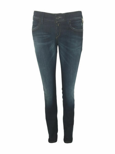 La VENDITA .50 Replay da donna donna donna NUOVO biondona Skinny Slim Fit Denim Jeans in Blu Indaco 9ac024