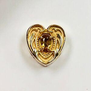 14K Yellow Gold Citrine Stuller Bracelet Slide