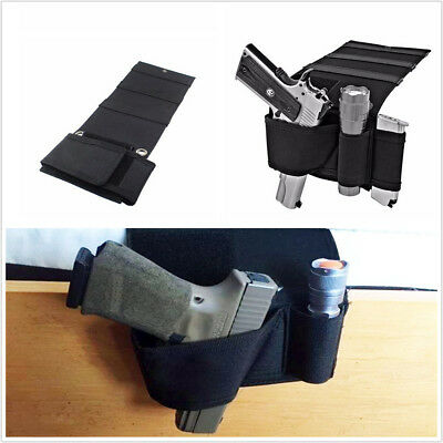Auto Car Home Seat Pistol Holder Handgun Holster Under Mattress Bedside Gun Case