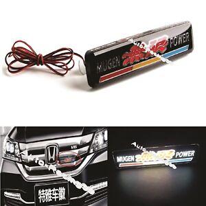 1x JEEP Logo LED Light Car Front Grille Emblem Badge Illuminated Bumper Sticker