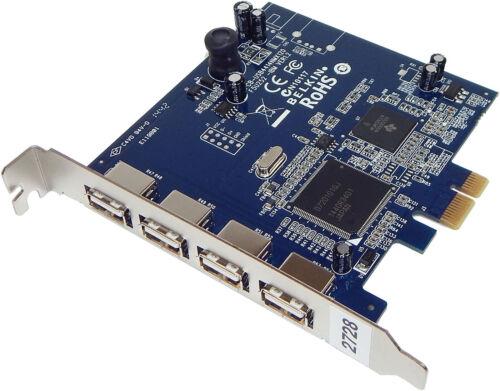 Belkin  IBM Hi-Speed USB 2.0 4-Port PCIe Card New  F5U252 Card Only 4-External P