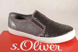 s-Oliver-Bailarina-Mocasines-Zapatillas-Zapatos-de-tacon-gris-NUEVO