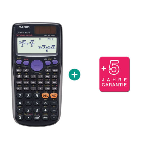 Casio FX 85 DE Plus Taschenrechner erweiterte Garantie