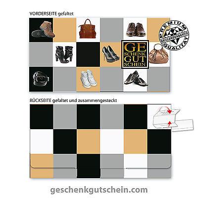 Hochwertiger Multicolorgutschein für Schuhe, Schuhfachhandel SH233