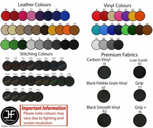 BLACK STITCH CUSTOM FITS SUZUKI GSXR 750 F SLABSIDE DUAL LEATHER SEAT COVER