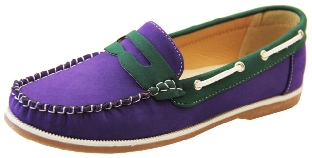 26cd5e9882c Womens Faux Leather Shoreside Smart Formal Moccasins Sailing Deck ...