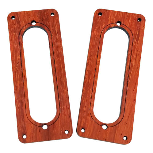 Laser-cut Single-Coil Pickup Cover Rings 2pc Padauk