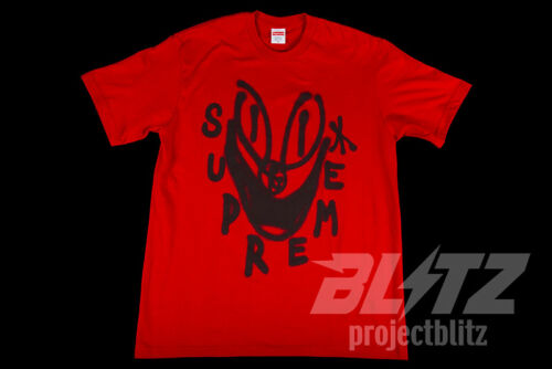 SUPREME SMILE TEE RED S M L XL FW18 T-SHIRT BOX LOGO BLACK WHITE YELLOW GRAY