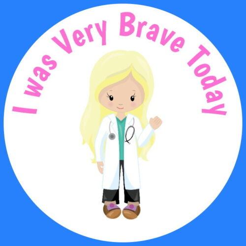 BRAVE FOR THE NURSE DOCTOR  PARAMEDICS HOSPITAL GLOSS CHILDRENS STICKERS
