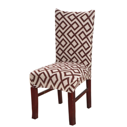 Stretch Leaves Wedding Banquet Chair Cover Party Decor Dining Room Seat Cover