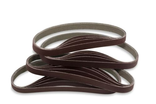 20 Pack 1//4 X 18 Inch 36 Grit Aluminum Oxide Air File Sanding Belts