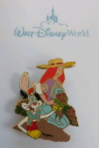 Disney-Who-Framed-ROGER-amp-JESSICA-Rabbit-GARDENING-Pin-LE-450-RARE-DLR-WDW