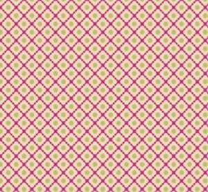Wallpaper-Designer-Mini-Fuchsia-Quatrefoil-With-Lime-Green-Dot-on-Beige