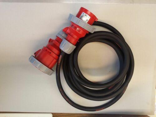 CEE Starkstromkabel 5x2,5 mm²  16A Verlängerungskabel ab 5 m IP67 Phasenwender