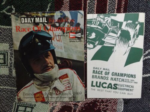 1969 BRANDS HATCH PROGRAMME & RACECARD F1 DAILY MAIL RACE OF CHAMPIONS