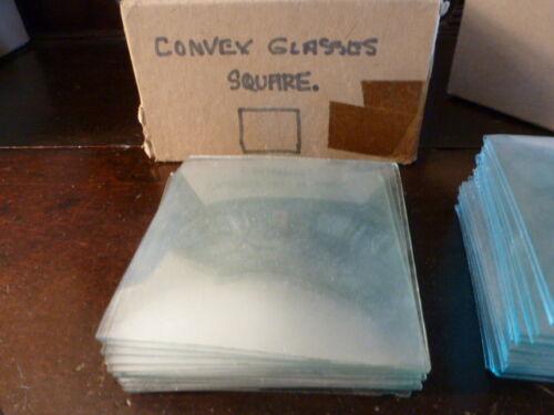 3 Square convex clock glass spare parts unused