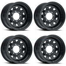 17x8 Vision 84 Vision 6x139.7 6x5.5 -12 Black Wheel New set(4)