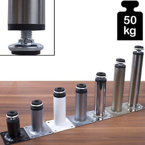 Moebelfuesse-Sofafuss-Moebelfuss-Sockelfuesse-Metall-Hoehenverstellbar-Stellfuss-Stuetzfuss