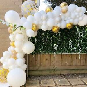 White Gold  Arch Kit Set Balloons Birthday Wedding Baby Shower Party Decorations