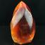 Natural-carnelian-flame-Shape-Quartz-Crystal-agate-torch-specimen-Healing-200g thumbnail 1
