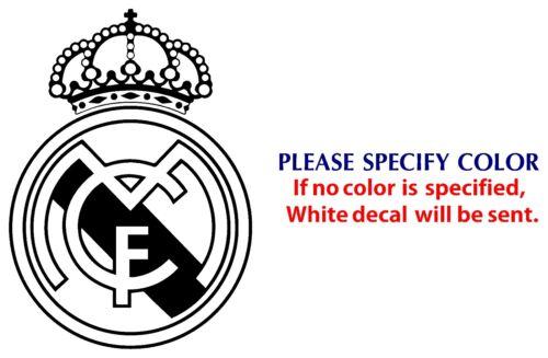 "REAL MADRID Football JDM Funny Vinyl Decal Car Sticker Window Wall Laptop 12/"""