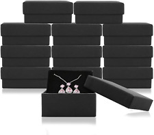 Jewelry Gift Boxes Necklace Earring Ring Box Gift Box 12 Pieces Black Square Car