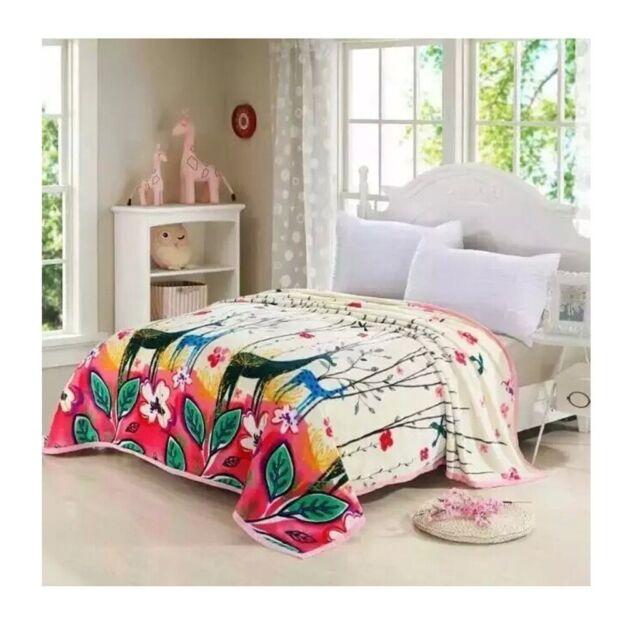 Two-side Blanket Bedding Throw Coral fleece Super Soft Warm Value 200cm 43