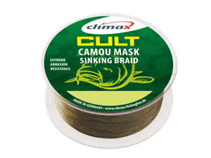 0,07 Eur   Mètres Point Culminant Cult Carpe Camou Masque 3000m 0,30mm 30lb