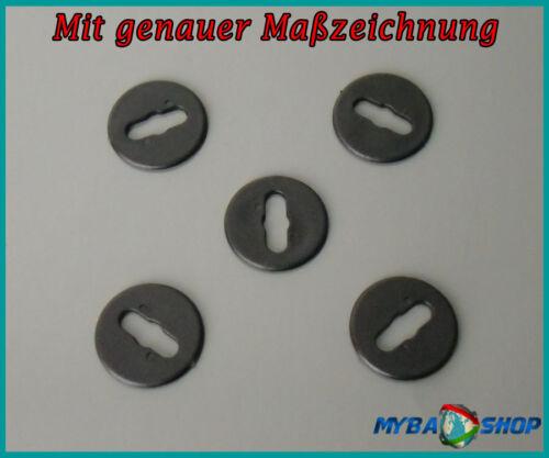10x Tappetini staffe di montaggio anelli in NERO per BMW e39 e46 e8382119410191