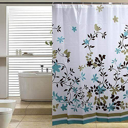 Cortina de ducha de ba/ño 60/x 72/inch Shabby Chic corte Vintage Flores tela de poli/éster a prueba de moho cortina de ba/ño