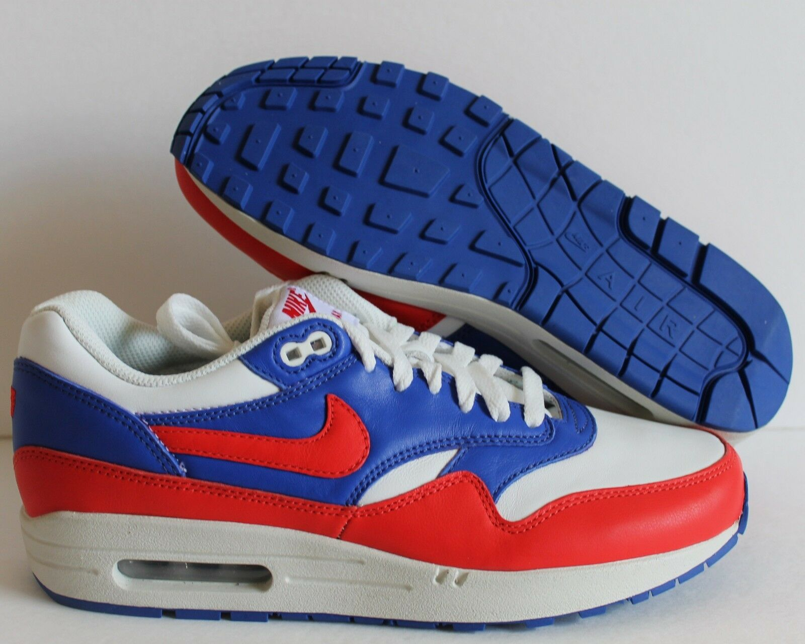 NIKE MEN AIR MAX 1 iD WHITE-BLUE-GREEN Price reduction  Cheap and beautiful fashion