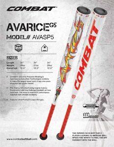 Details about Combat Avarice G5 ASA Slow Pitch Softball Bat AVASP5 34