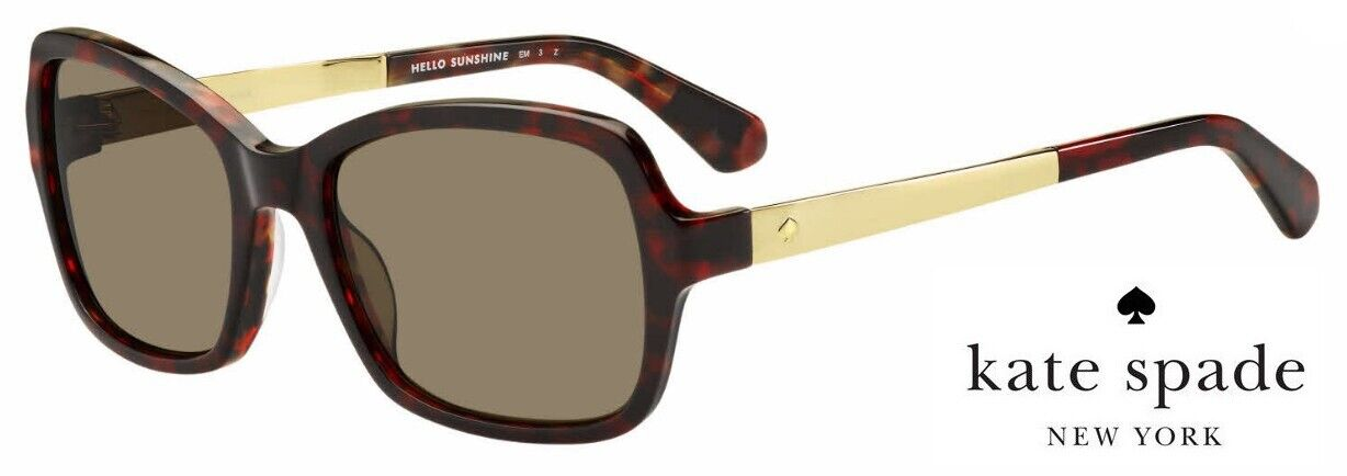 KATE SPADE ANNJANETTE/S Sunglasses 0O63 SP (Red/Brown) & 080S M9 (Black/gray)