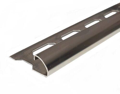 20 Stück Rondec 6-8-10-11-12,5 mm V2A glänzend Edelstahlschiene Fliesenschiene
