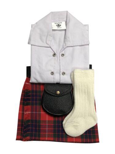 sporran 0-24 mois Fraser Tartan Rouge Bébé Réglable Kilt Outfit Tuyau