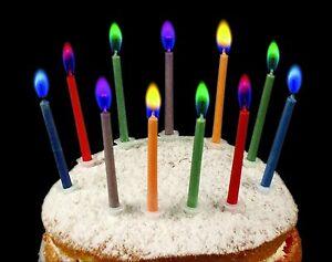 Image Is Loading Magic Neon Flame Candles 12pcs Birthday Cake Decor