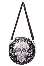 Banned Apparel Skull Pentagram Occult Gothic Punk Round Handbag Purse Bag BBN798