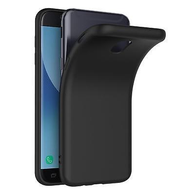Samsung Galaxy J5 2017 Ultra Slim Cover Hülle Schutzhülle Silikon Schwarz Tasche
