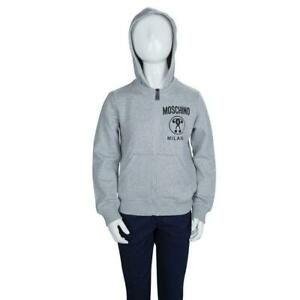 Moschino-Grey-Hoodie-Cotton-Jacket