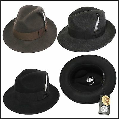 new Godfather hat satin lined Top Quality western cowboy indiana jones fedora