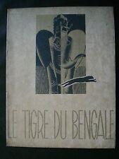 CINEMA. Le tigre du Bengale par T. Von Harbou illustré par René Péron, film 1938