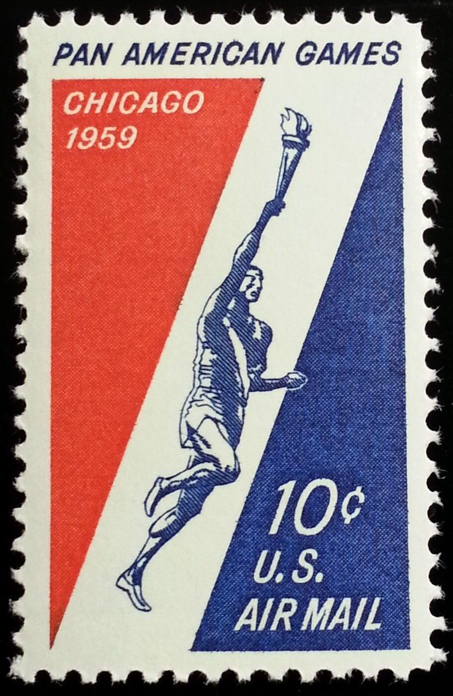 1959 10c Pan American Games, Chicago Scott C56 Mint F/V